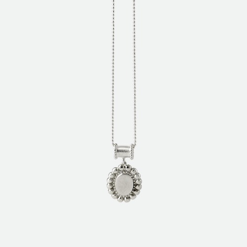 Signature flower Necklace - flat silveroblatt