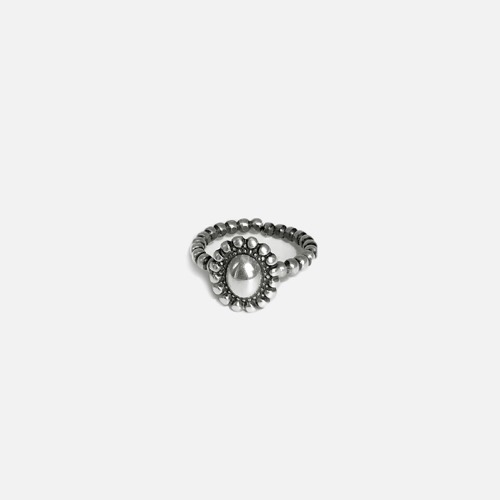 Signature flower open Ring - volume vintageoblatt