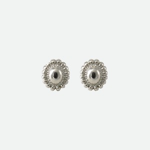 Signature flower Earring - volume silver / long dropoblatt