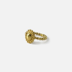 Signature flower open Ring - volume goldoblatt